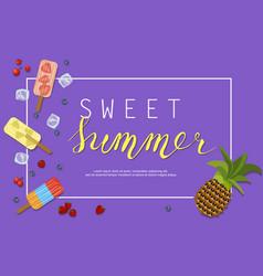 Ice-cream menu banner vector