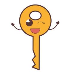 key door kawaii character vector image