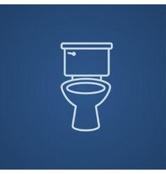 Lavatory bowl line icon vector image