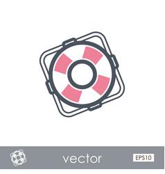 lifebuoy outline icon summer marine vector image vector image