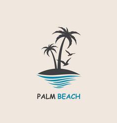 palm beach icon vector image vector image