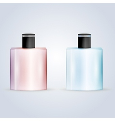 perfume flasks vector image