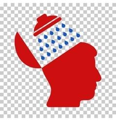 Propaganda brain shower icon vector
