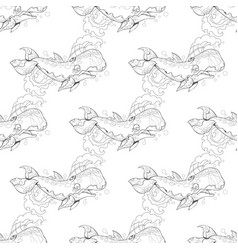 seamless pattern with the image of a large blue vector image vector image