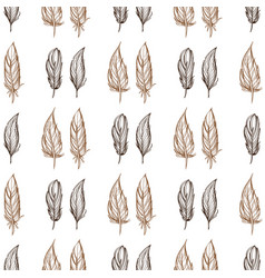 seamless pattern with the image of feathers vector image vector image