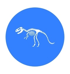 Tyrannosaurus rex icon in black style isolated on vector