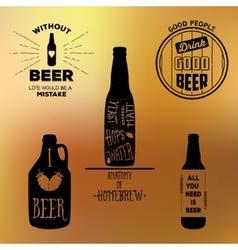 Vintage beer emblems labels and design elements vector