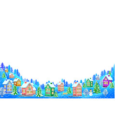 Winter landscape composition on white background vector