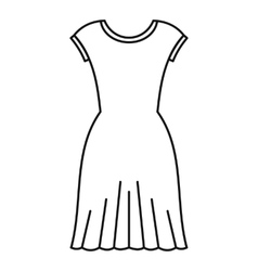 Woman dress icon outline style vector