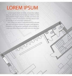 Detailed architectural plan eps 10 vector