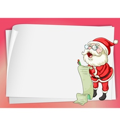 Paper sheets and santa claus vector