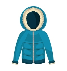 Winter jacket clothes isolated icon vector