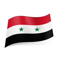 National flag of syria red white and black vector