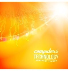 Orabge technology abstract background vector image