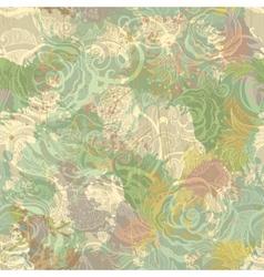 Vintage flowers seamless pattern EPS10 vector image