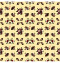 Tattoo seamless pattern vector