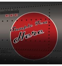 Retro aviation vector image