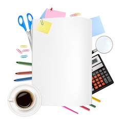 Back to school notepad with vector