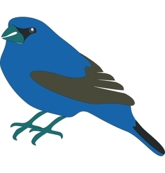 Blue bird 01 vector