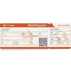 Image of airline boarding pass ticket with vector