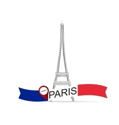 France paris eiffel tower vector