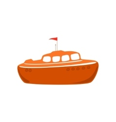 Lifeboat isolated on white vector
