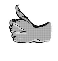 halftone hand like on a white background vector image