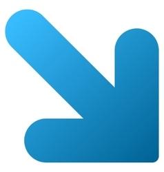 Arrow down right gradient icon vector