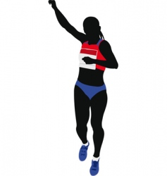 athlete running vector image vector image
