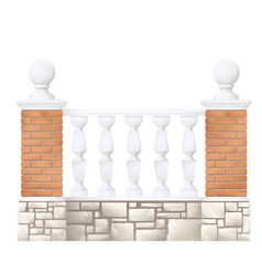 balustrade vector image vector image