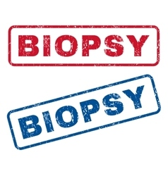 Biopsy rubber stamps vector