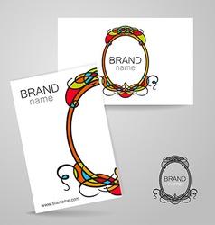 Brand name frame logo vector