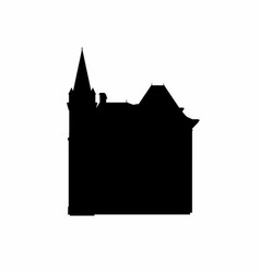 Castle shadow with a tower vector