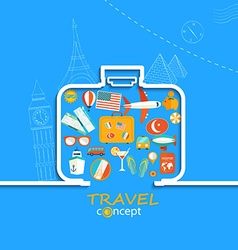 Concept of the travel vector image