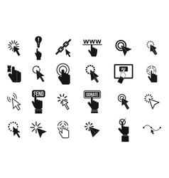 cursor icon set simple style vector image