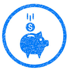 Deposit piggy bank rounded grainy icon vector