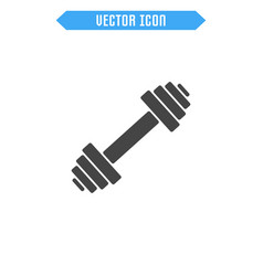 dumbbells flat icon vector image