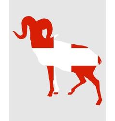 Flag of switzerland with ram vector