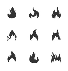 Flame silhouettes vector