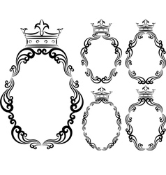 frames with crowns vector image vector image