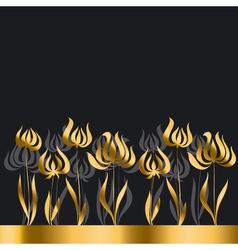 gold tulip Art Nouveau style vector image vector image
