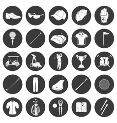 Golf icons design over white background vector image vector image