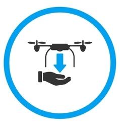 Hand Unload Air Drone Icon vector image