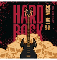 hard rock vector image