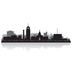 Lansing Michigan city skyline silhouette vector image