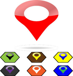 Location pin sign set vector image vector image