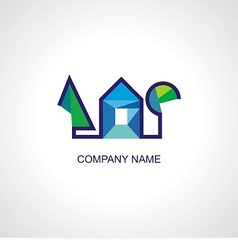 logo for architect or organic company vector image