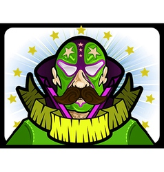 Mexican wrestler vector