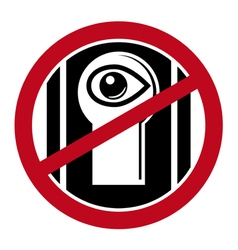No spy icon vector