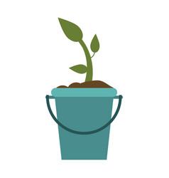 plant in bucket icon image vector image vector image